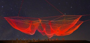 This rendering depicts Janet Echelman's 'The Space Between Us.' for Saturday's GLOW. (Courtesy City of Santa Monica)