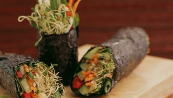 The Euphoria Loves Rawvolution cafe is helmed by raw-food gurus Janabai and Matt Amdsen, whose dedication to serving the highest quality food fuels the bodies of overextended Santa Monicans. Their organic, local, seasonal, wheat-, soy-, and gluten-free vegan menu pleases even the pickiest of palates. (Photo courtesy wwwgatheringgreen.com)