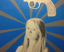 Street artist Dillon's work titled '.38 Special.' (By Dillon)