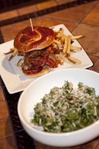 Rick's Tavern on Main features bar staples like their pulled-pork burger with bacon for the hearty eaters and a kale salad with parmesan for those looking for something lighter. (Brandon Wise brandonw@smdp.com)