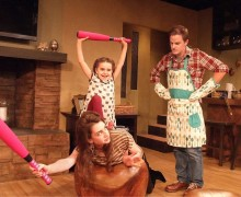 GOOFING AROUND: Beth Triffon, Ava Bianchi and Eric Hunicutt in 'The Pain and The Itch.' (Photo courtesy Ed Krieger)