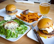 Stout Burgers & Beers recently opened in Downtown and features a variety of juicy burgers and craft beers. (Brandon Wise brandonw@smdp.com)