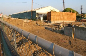 Site of a future Expo Light Rail Line stop. (File photo)