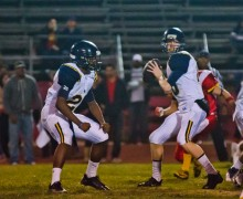 Samohi quarterback Jordan Detamore passes the ball against Hawthorne High School Friday night. Detamore threw three touchdown passes during the 42-0 win. (Paul Alvarez Jr. editor@smdp.com)