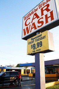 THE SITE: The operators of Wilshire West Car Wash pleaded no contest to cheating the business' workers out of pay. (Daniel Archuleta daniela@smdp.com)