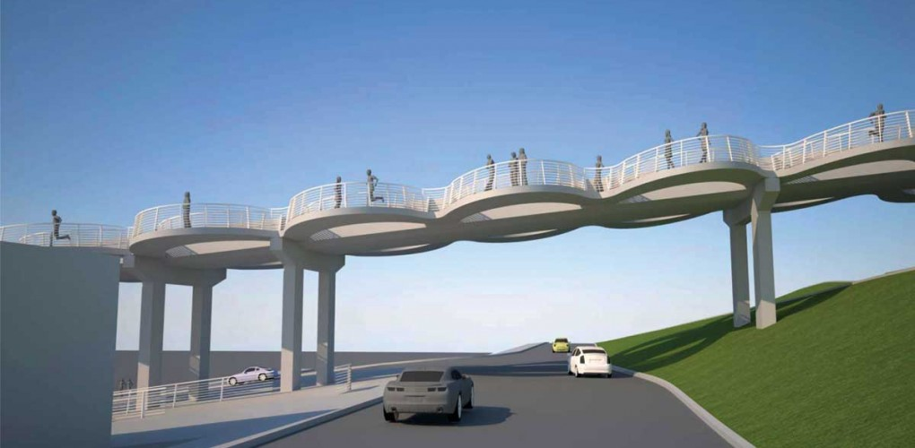 NEW? The City Council this week moved along design plans for a new Santa Monica Pier bridge. (Rendering courtesy City of Santa Monica)