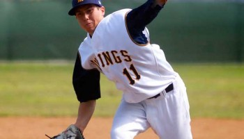 Tyler Skaggs makes a pitch during his Samohi days. (File photo)