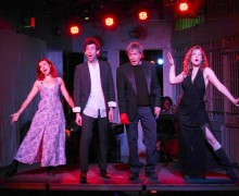 PLAYING IT UP: (L-R) Megan Rippey, Sol Mason, Paul Sand and Shay Astar, The West End Theatre cast of 'Kurt Weill at the Cuttlefish Hotel' at the Santa Monica Pier. (Photo courtesy The West End Theatre)