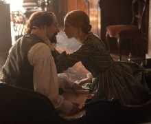 Ralph Fiennes and Felicity Jones in 'The Invisible Woman,' a love story focusing on the relationship between Charles Dickens and his mistress. (Photo courtesy Sony Pictures Classics)