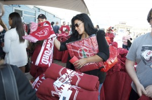 SCHOOL SPIRIT: Stanford alumni held a pep rally on the Santa Monica Pier earlier this week. (Paul Alvarez Jr. editor@smdp.com)