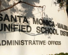 Santa Monica-Malibu Unified School District headquarters. (Daniel Archuleta daniela@smdp.com)