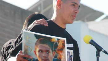 A memorial was held for the slain Eddie Lopez at Santa Monica High School in 2006. (File photo)