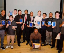 PROUD VIKINGS: The Santa Monica High School football team held their annual banquet friday night at the Santa Monica Bay Woman's Club. (Paul Alvarez Jr. editor@smdp.com)