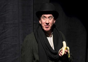 Barry McGovern in 'I'll Go On.' The play is based on three Samuel Beckett novels. (Photo courtesy Craig Schwartz Photography)