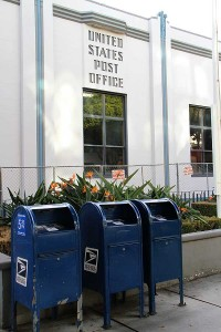 GOING BYE-BYE: The United States Postal Service is removing a group of mailboxes from outside of its shuttered post office on Fifth Street. The boxes will be gone come Feb. 20. (Daniel Archuleta daniela@smdp.com)