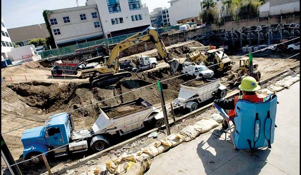 The face of Santa Monica is changing, too rapidly some say, as old buildings come down and make way for new housing and office space. (File photo)