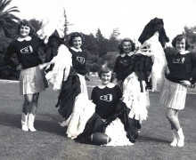 GO VIKINGS! Elaine Jones (left) was a Santa Monica High Song Leader in 1951. (Photo courtesy Tom Atkinson)