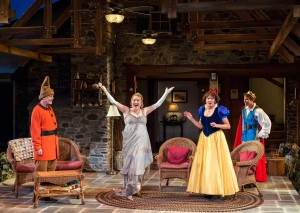(L-R): Mark Blum, Kristine Nielsen, Christine Ebersole and David Hull in Christopher Durang's Tony Award-winning play 'Vanya and Sonia and Masha and Spike.' (Craig Schwartz Photography)