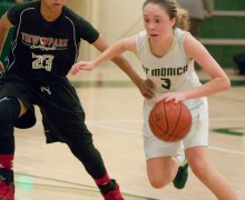 Morgan Genser editor@smdp.com  THERE SHE GOES: St. Monica's Molly Tomlin makes a move earlier this season. (Morgan Genser editor@smdp.com)