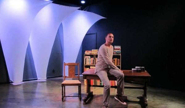 ALONE ON STAGE: George Regout in Adam Rapp's 'Nocturne.' (Photo courtesy Ute Ville)