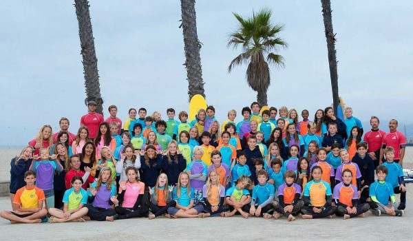 ALL TOGETHER: A surf team of Santa Monica public school kids will compete this weekend. (Photo courtesy Daniel Pritikin)