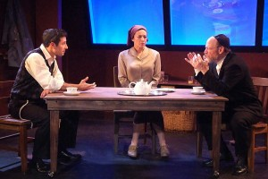 THE CAST: Jason Karasev, Anna Khaja and Joel Polis in 'My Name is Asher Lev.' (Photo courtesy Ed Krieger)