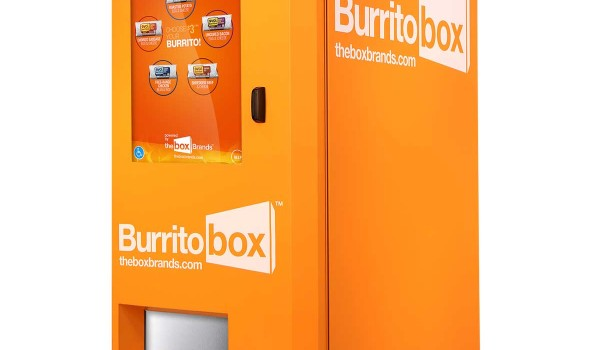 The world's first burrito kiosks have hit Southern California. Two are located along Santa Monica Boulevard, one in Century City and the other in West Hollywood.  (Photo courtesy http://tastetheburritobox.com/)