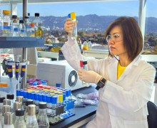 WAVE OF THE FUTURE? Proponents of synthetic biology tout its potential for bringing about great advances in medicine, energy and cheaper foods. But health advocates worry that the risks to health and the environment may be too great. Pictured: a researcher using 'synbio' to engineer new microbes as an alternative to yeast for turning complex sugars into biofuels. (Photo courtesy Lawrence Berkeley National Laboratory/Roy Kaltschmidt)