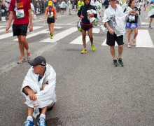 Runners finish last year's L.A. Marathon. (Brandon Wise brandonw@smdp.com)