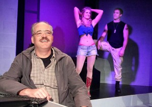 THE CAST: Mark Rimer, Erin Elizabeth Patrick and Ben Gavin star in 'Talhotblond.' (Photo courtesy Ruskin Group Theatre)