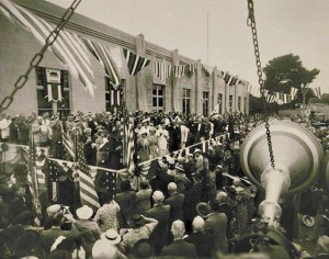 BLAST FROM THE PAST: Opening day of the Fifth Street post office in 1938. (Photo courtesy City of Santa Monica)