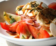 SO TASTY: Among The Counter's new menu items is this tomato salad. (Kevin Herrera kevinh@smdp.com)