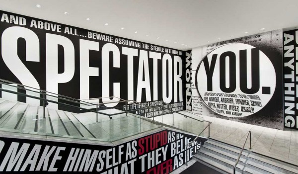 Barbara Kruger. Untitled (Hello/Goodbye), 2014. (Photo by Brian Forrest)