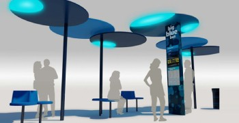 A rendering of one of the new bus stops coming soon to a street corner near you. (Rendering courtesy City of Santa Monica)