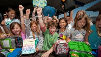 Grades of Green's annual Trash Free Lunch Challenge is a competition between Los Angeles County schools to see which school can reduce its lunchtime trash the most. Santa Monica's McKinley Elementary is a finalist. (Photo courtesy Grades for Green)