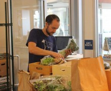 BUSY: Santa Monica Merchant founder Giles Donavan packs a crate for a customer. (Photo by Michael Ryan)