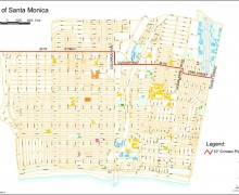 A map of the oil pipeline running underneath Santa Monica. (Courtesy city of Santa Monica)