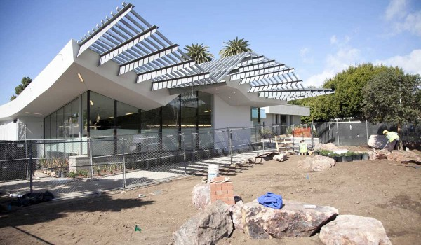The Pico Neighborhood Library is nearly complete and could open later this month. It is located at Viginia Avenue Park. (Brandon Wise brandon@smdp.com)
