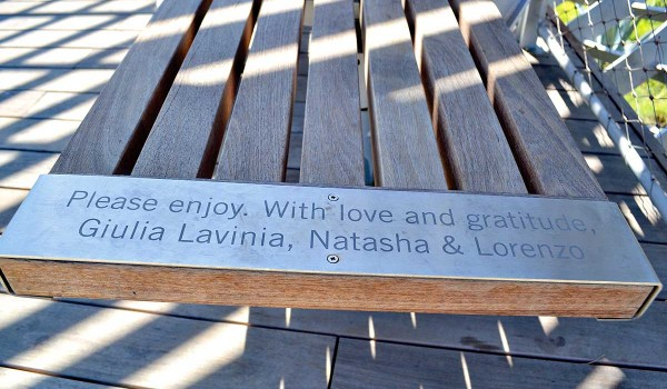 REMEMBERED: The benches at Tongva Park are now part of the Give Santa Monica program that allows residents to make direct donations toward a wish list of items at local parks. (Matthew Hall matt@smdp.com)