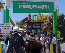 FUN DAY: The Education Foundation raised roughly $110K during the Pier Party on Sunday. (Morgan Genser editor@smdp.com)