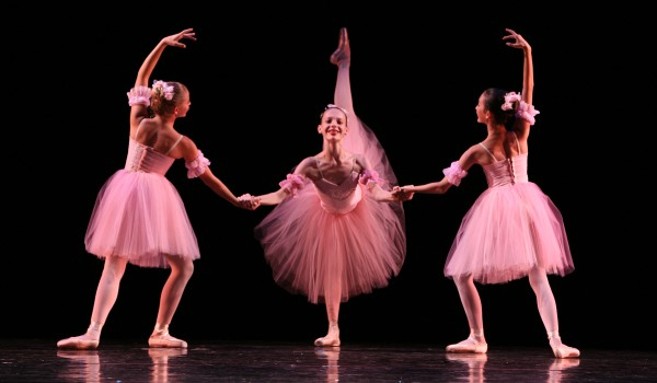 ON STAGE: Sarah Drake (center) in an earlier spring performance of Westside Ballet's dances featuring Faust. (Photo courtesy Todd Lechtick)