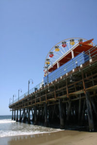The beach near the Santa Monica Pier has been called one of the worst in the state by Heal the Bay. (File photo)