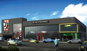 THE FUTURE? City planners are recommending approval of a MINI dealership at the Planning Commission meeting tonight. (Rendering courtesy City of Santa Monica)