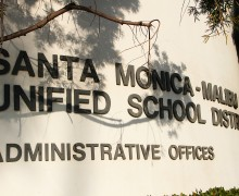 The Santa Monica-Malibu Unifed School District is located on 16th Street.
