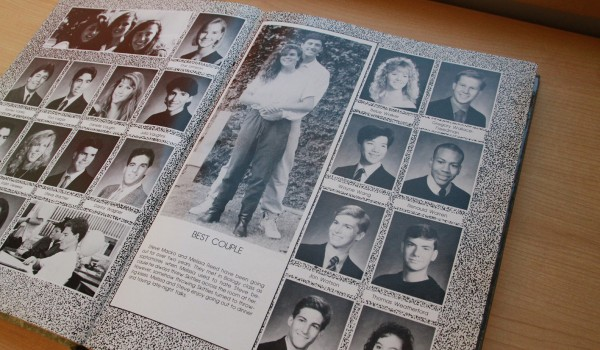 WAY BACK: Steve Macko stands behind Melissa Reed in 1989's Santa Monica High School's yearbook. (Daniel Archuleta)