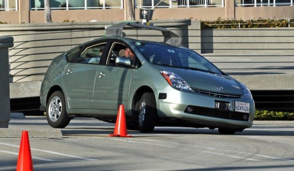 Driverless — or 'autonomous' — cars may be commonplace by 2020, some analysts say, and are touted by proponents as more sustainable than their driven counterparts. Pictured: Google's prototype driverless car, a converted Prius, undergoing testing. (Photo courtesy Steve Jurvetson)