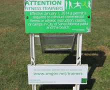 Sign in Palisades Park