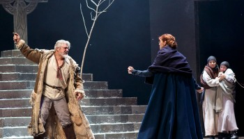 Darrell D'Silva (Siward) and Siobhan Redmond (Gruach/Lady MacBeth) in Dunsinane
