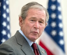 Former President George W. Bush Gives Remarks At A Citizenship Ceremony And Naturalization Forum