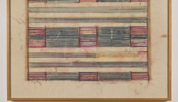 Ed Moses, Untitled 1972 Graphite, crayon and masking tape on vellum. Copyright 2015 Ed Moses Photo copyright 2015 Museum Associates/LACMA by Brian Forrest
